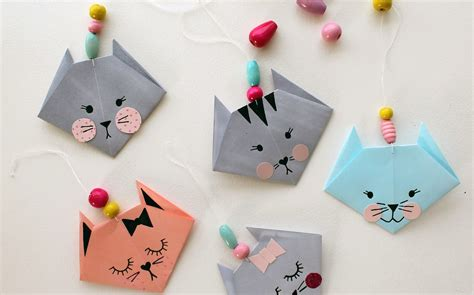 origami crafts for how to make an easy origami cat crafts