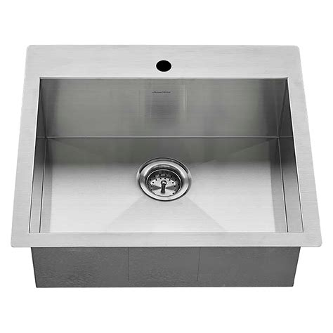 american standard stainless steel kitchen sinks edgewater dual mount 25x22 stainless steel kitchen sink