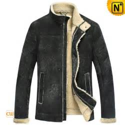 leather and shearling jacket mens black shearling leather jacket cw848105