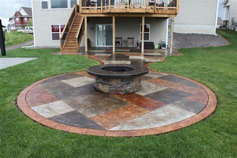 patio designs with pits concrete patio pit pit design ideas