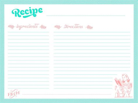 how to make recipe cards on word printable recipe cards martensitak