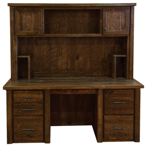 timber computer desk rustic barn wood timber peg executive desk with hutch