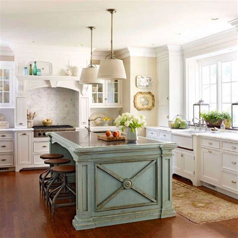 white kitchen cabinets with island robin s egg blue island white cabinets kitchen
