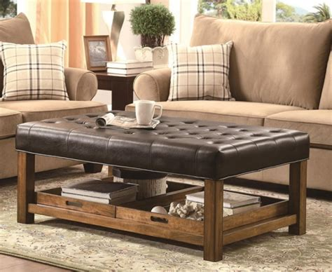 ottoman coffee table unique and creative tufted leather ottoman coffee table