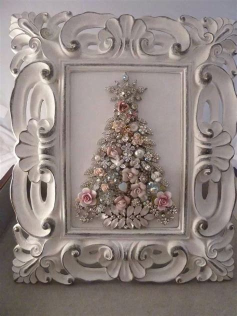 how to make a vintage jewelry tree framed tree vintage jewelry