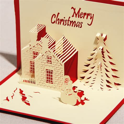 craft paper cards 3d greeting card quot castle in winter quot handmade paper