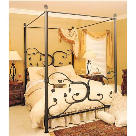 wrought iron canopy bed frame beds headboards bedroom furniture humble abode