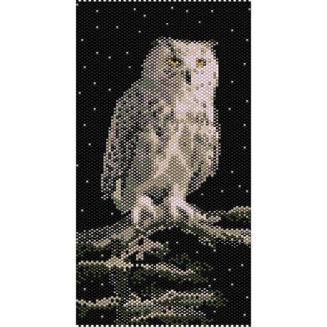 seed bead peyote patterns snowy owl tapestry peyote bead pattern seed beading pattern
