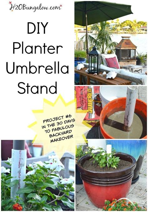 diy patio umbrella stand 25 best ideas about patio umbrella stand on