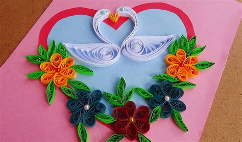 how to make paper quilling cards quilled birds for greeting card paper quilling