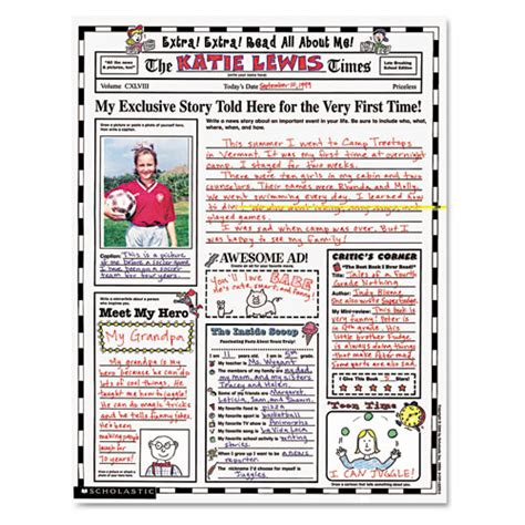 instant personal poster sets read all about me 30 big write and read learning posters ready for to personalize and display with pride scholastic instant personal poster sets read