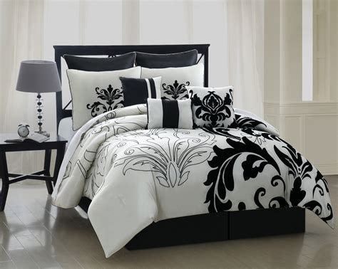 black comforter sets black and white comforter sets