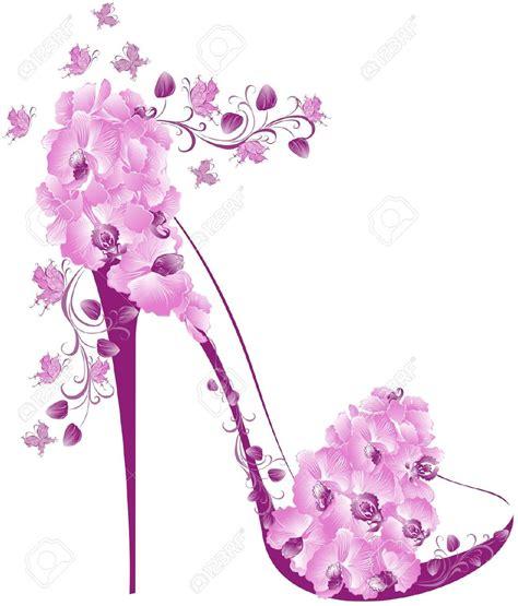 decoupage shoebox pink high heel shoes clipart images