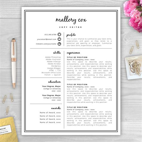 perfect resume outline resume icons resume design resume template word resume