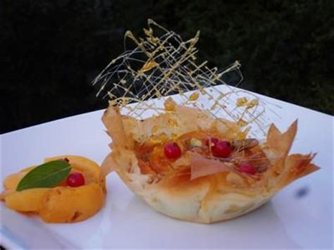 recette corolles de p 226 te filo aux abricots pistaches et caramel 750g