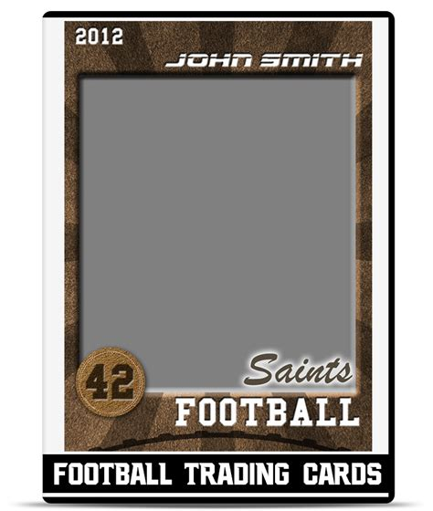 how to make a football card football trading card template teamtemplates