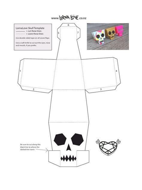 paper craft pdf lornalove papercraft skull lornalove papercraft skull