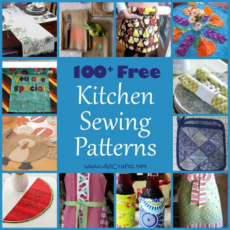 kitchen pattern 100 free kitchen and dining sewing patterns allcrafts
