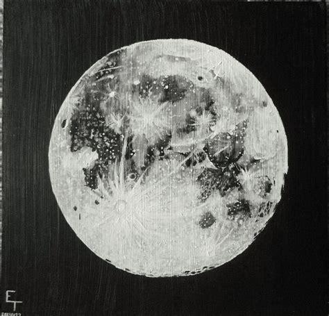 acrylic painting moon moon acrylic painting emily trigg the moon