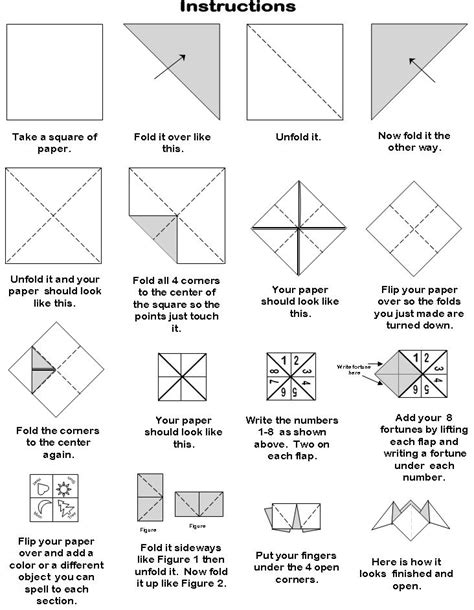 how to fold origami fortune teller 6 best images of printable origami fortune teller blank