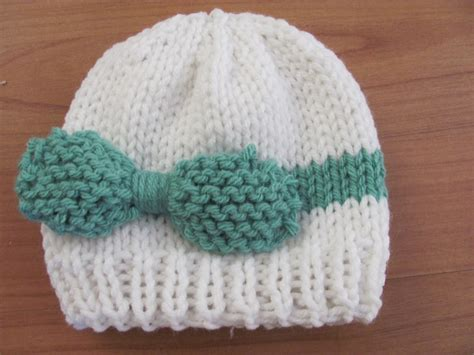 Twenty Something Knitted Baby Bow Hat