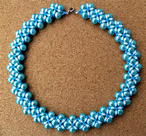 free beaded jewelry patterns free pattern for beaded necklace magic