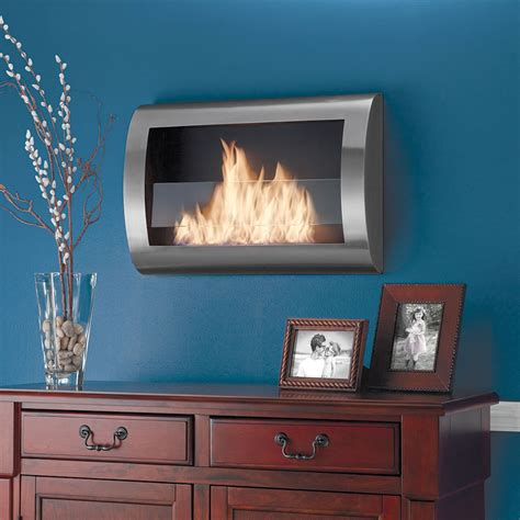 clean burning wall mounted fireplace the green