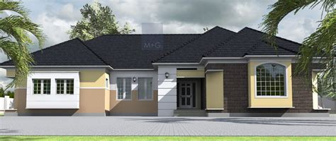tired bungalow gets a facelift contemporary entry other 4 bedroom house layout plan 4 bedroom bungalow in nigeria contemporary bungalow design
