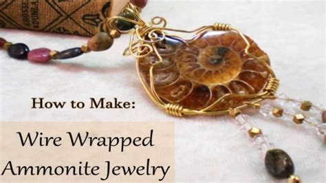 how to make wire wrapped jewelry how to make wire wrapped ammonite jewelry diy jewelry