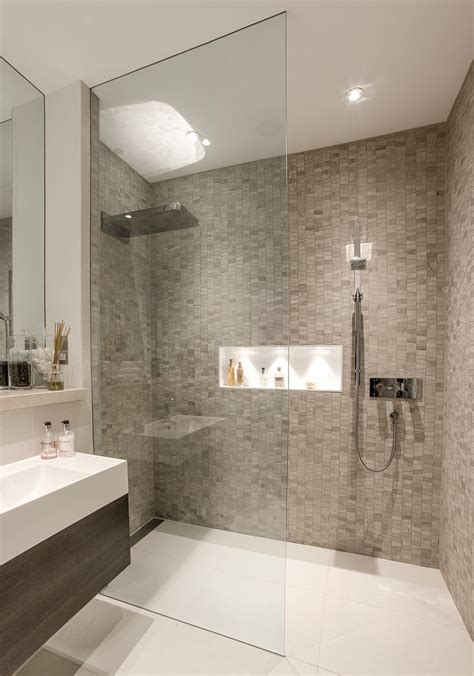 walk in showers designs Bathroom Contemporary with basement shower room beautiful