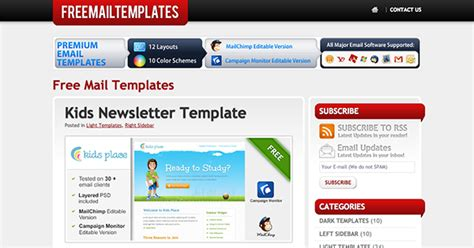 the best places to find free newsletter templates and how