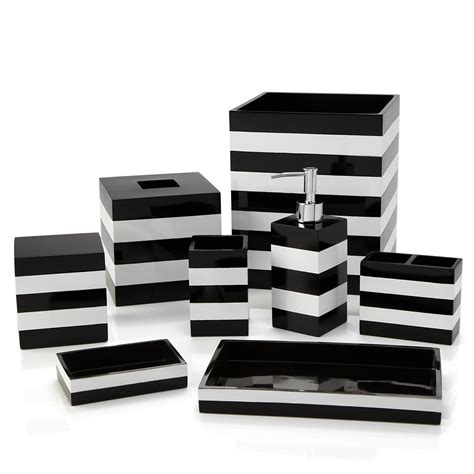 Black And White Bathroom Accessories by Striped Bathroom Accessories Bathroom Design Ideas