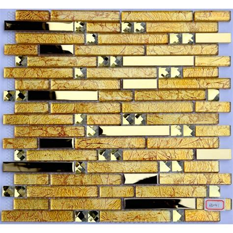 gold glass tile backsplash metal and glass chrome stainless steel backsplash
