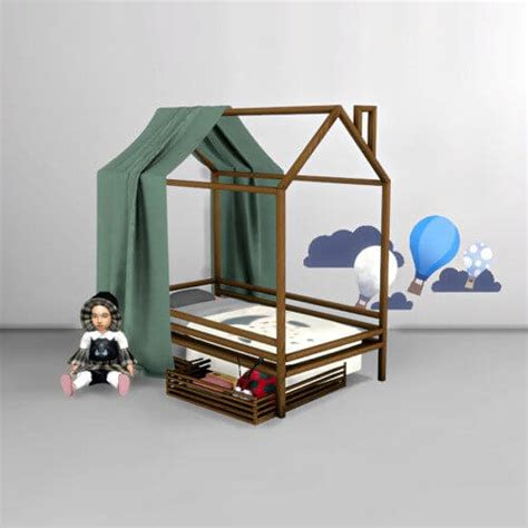 canopy bed for toddler spring4sims toddler canopy bed for the sims 4