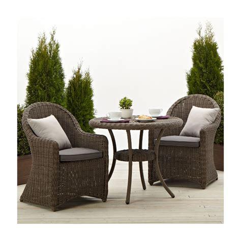 outdoor wicker chairs strathwood hayden all weather wicker bistro