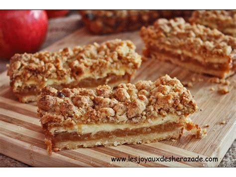 recette de streusel aux pommes