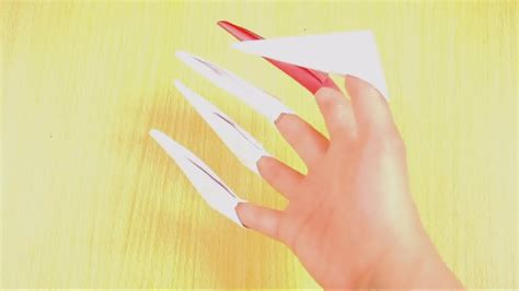 how to make origami finger claws how to make origami paper claws 10 steps with pictures