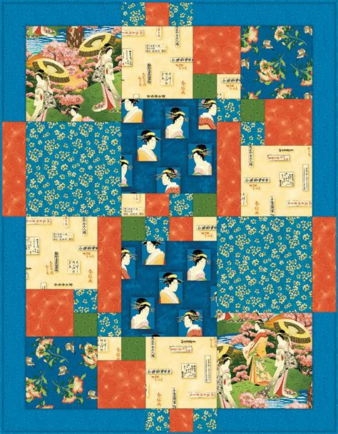 quilting crafts japanese afternoon quilt pattern from springs creative