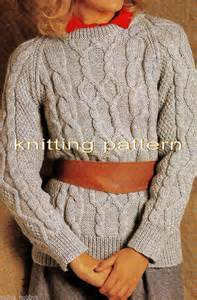 modern knitting patterns uk knitting pattern modern aran cable jumper sweater