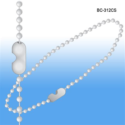 beaded chain connector beaded chain connector style 12 quot 3 metal