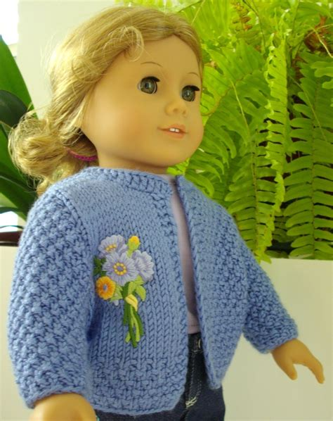 doll cardigan knitting pattern basic cardigan knitting pattern for american doll