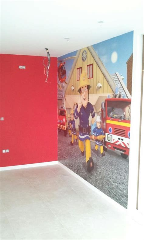 fireman sam bedroom furniture fireman sam mural kid s bedroom they it fireman