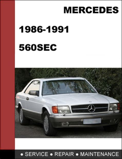 small engine repair manuals free download 1990 mercedes benz s class on board diagnostic system mercedes benz 560sec w126 1986 1991 factory workshop service manual