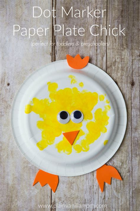 crafts with paper and markers dot marker paper plate plain vanilla