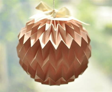 origami paper lantern hanging decorative folded paper mini pink by