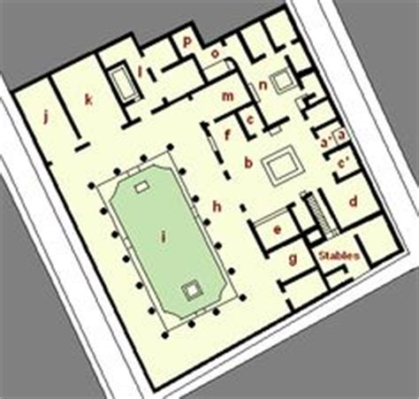 house of the vettii floor plan pomp 233 i architecture and b 226 timent on