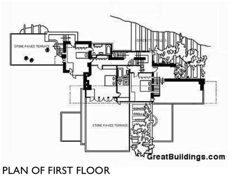 fallingwater floor plans frank l wright falling waters and key projects