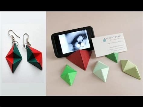 origami iphone stand origami pyramid business card stand base para