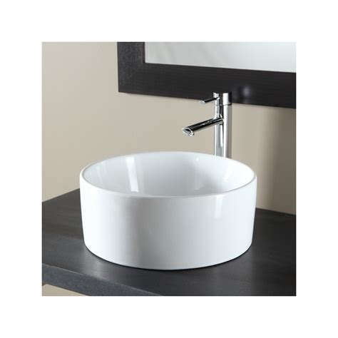 vasque 224 poser ronde en c 233 ramique blanc 111049