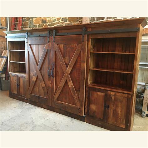 entertainment cabinets with doors barn door entertainment cabinet with x barn doors
